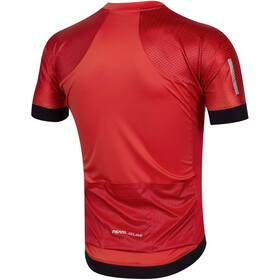 PEARL iZUMi Elite Pursuit Speed Maillot Manches courtes Homme, torch red stripe
